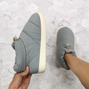 Woman Warm Boots Cotton Fabric Warm Shoes for 2020 Winter Female Non-slip Down Thick Bottom Shoes Comfort Soft Down Ankle