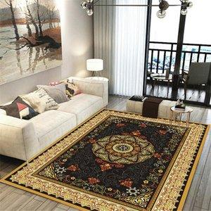 Marruecos Estilo Parloer Decoración Área de la alfombra Franela Antideslizante Cocina Suelo de cama Mat