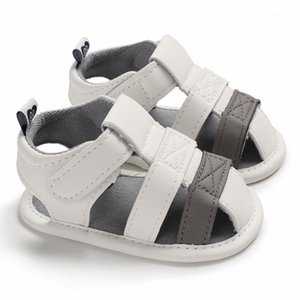 Baby Sandals Summer Shoes Newborn Infant Baby Girl Boy Kids Crib Shoes Soft Sole Solid Hook Causal Anti Slip 0-18M1