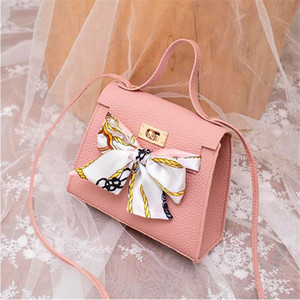 Lychee Pattern Bag Women With Faux Silk Scarf Hasp Lock Handbag Mini Bowknot Crossbody Sac Femme Luxe Bolsas Femininas Baratas