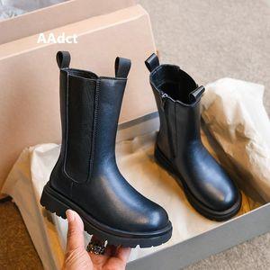 Aadct 2021 Girls Boots New Fashion Autumn Kids High Stivali per ragazze Bambini Bambini Scarpe lunghe Principessa