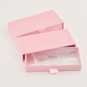 Wholesale Lash Boxes Packaging Eyelash Box Package Custom Rectangle Drawer Light Pink False eyelashes Makeup Storage Case bulk Vendors
