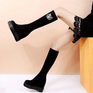 Boots Shoes Lady Boots-Women Round Toe Platform Winter Footwear Sexy Thigh High Heels Stiletto 2021