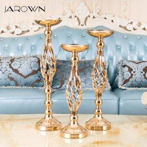 JAROWN Iron Candlestick Continental Creative Ornaments Wedding Flower Arrangement Decor Home Candlelight Dinner Romantic Gift