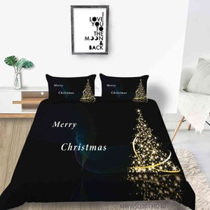 Fashion 3D Christmas Red Printing Bedding set Duvet cover with pillowcases Queen King Twin sizes 2 3 pcs