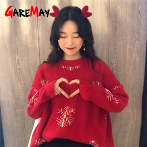 Garemay Femenino Navidad Otoño Invierno Básico Jersey Ladies Sweaters Cálidos Mujeres Suéter