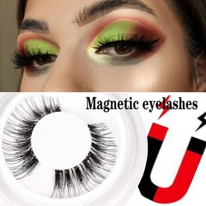 6D Magnetic False Eyelashes Natural Eyelashes Handmade Cruelty-Free Black Natural Fluffy Thick Reusable Soft