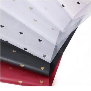 50 * 70 cm Papel de envoltura de regalo DIY DIY Hecho a mano Estrella de Hermosa Punto de Patrón Papel de Pañuelo 28 Hojas / Lote Packaging Floral BBYZGZ