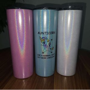 sublimation 20oz glitter skinny tumbler double wall sparkly slim tumbler with straw lid shimmer water tumblers