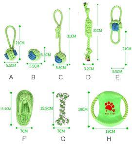 Cão de estimação brinquedos de algodão bola filhote de cachorro mastigar brinquedo molar limpo interativo mastigação durável corda de corda engraçado ferramenta engraçado jk2012xb