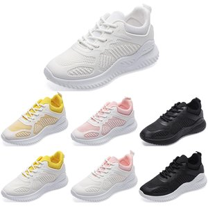 Cheap running shoes for women color white black pink yellow womens breathable comfortable shoes sports sneakers 36-40