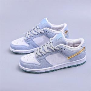 Sean Cliver x Dunks Low Pro qs yy праздник специальные туфли белые голубые золотые женские туфли кроссовки валентинок день