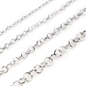 5 Meters Lot Stainless Steel Polishing Necklace O-Ring Chain For DIY Jewelry Findings Making Materials Handmade Supplies