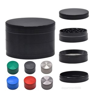 A-Herb 40mm 4 Layers cylindrical Tobacco Grinder Zinc Alloy Hand Muller CNC Teeth Grinders Smoking Accessories OWC3601