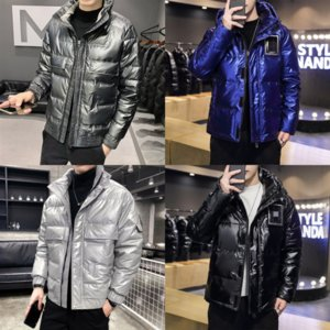 Rmdec Winter Jacket Real Alta Qualidade para baixo Casacos Down Wolf Fur Top Quality Moda Novo Estilo Relaxado Masculino Parka Jaqueta Fusion Fit Fit Ganhe