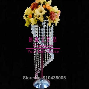 Party Decoration Wholesale Gold Iron Flower Stand Table Centerpiece Wedding Floor Vases Tall Display Rack Top Decor Favors