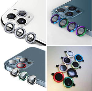 Rear Camera Lens Protector Full Cover Film Shiny Metal for iPhone 11 Pro Max 11Pro iPhone12 Back Tempered Glass Screen Protection Color box