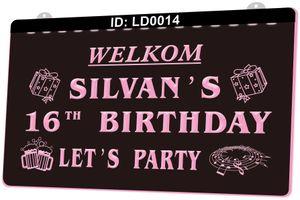 LD0014 Welkom Silvans 16th Cumpleaños permite la fiesta
