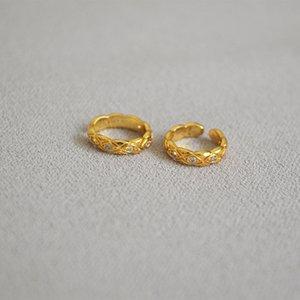 Women's Korean-Style Elegant Simple Inlaid Zircon Earrings Ear Stud Ear Clip