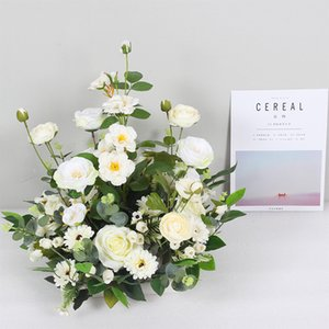wedding artificial fake flowers christmas decorations for home party table centerpiece floral decoration accessories