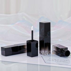 Dudak Parlatıcısı Tüp Boş Tüp DIY Kare Dudak Parlatıcı Tüpler Dudak Parlatıcısı Kapları Doldurulabilir Lipgloss Şişeleri Siyah Degrade