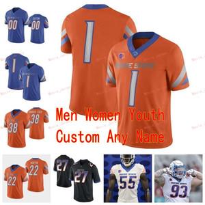 Dikişli Özel 19 Hank Bachmeier 21 Andrew Van Buren 22 Alexander Mattison 22doug Martin Boise State Broncos Koleji Erkek Kadın Gençlik Forması