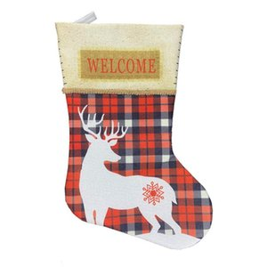Christmas Tree Hanging Gift Sock Christmas Decoration Stocking Sock Gift Candy Bags Lovely Bag For