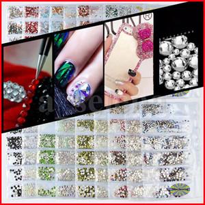 20 ألوان كريستال مسمار حجر الراين 3d مجوهرات الزجاج الماس gems مسمار الفن الديكور diy الحرفية الراين 6 الحجم