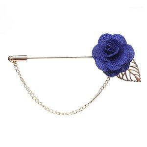Wholesale- Na moda flor artesanal broche lapela pinos para mulheres homens terno boutonniere botão vara broches festa de casamento jóias 36511
