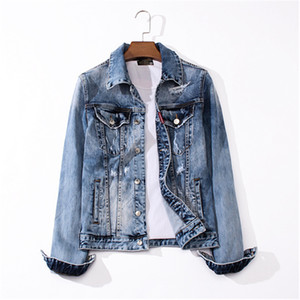 2020 casual fashion trend high quality denim slimming men's cardigan jacket-11-2