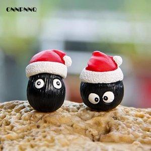 1 adet Totoro Briket Noel Süslemeleri Severler Eşarp Reçine Minyatür Karikatür Hayvan Peri Bahçe Minyatürleri Ev Dekor