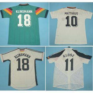 톱 1988 1990 1992 독일 레트로 축구 유니폼 1994 1998 2004 Klinsmann 축구 셔츠 Klose Jersey Matthaus Maillot 드 발