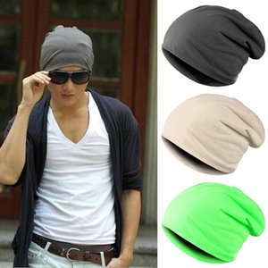 Men Women Winter Cap Chapeu Casual Beanies Solid Hip-hop Slouch Skullies Bonnet Unisex Cap Hat Spring Autumn