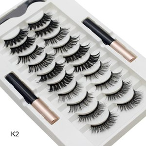 10 Pairs Magnetic False Eyelashes With Eyeliner Kit Natural Look Glamnetic Cosmetic Eyelash Quick Dry Thick And Long Makeup Tool
