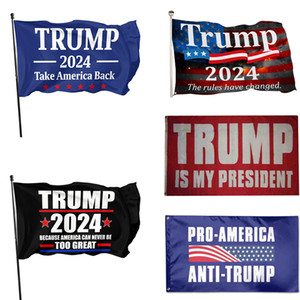 2024 Trump Flag 90*150cm US Presidential Election Flag Polyester Material Trump 2024 Flags 5 Style XD24493