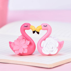 Animals Bonsai Decorative Trinkets PVC Plastic Cute Flamingo Flower Table Ornament Home Garden Dollhouse Kids Room DIY Basin Decor 0 65dd L2