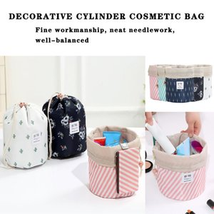 round makeup bag waterproof travel cosmetic bag makeup organizer for women portable with travel cord 2020