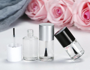 10 ml hochwertige leere runde form nagellack flaschen uv kappe kleine pinsel nail art container glas nail art flaschen