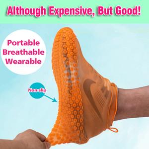 Reutilizável sapatos impermeáveis de silicone capa unisex botas à chuva à prova de chuva antiderrapante Overshoes grossos desgaste desgaste portátil portátil alta qualidade YL0129