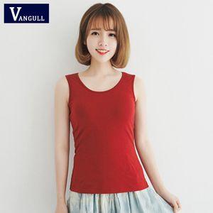 VANGULL women's solid cotton vest female slim bottoming vest women's summer fashion sling 5 color sleeveless camisoles 2018 new