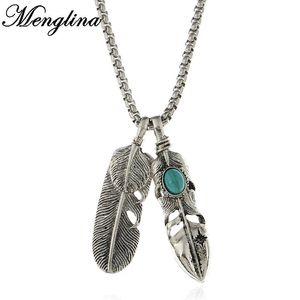 MENGLINA Fashion Vintage Piume Collana Gold Color Eagle Claw Collana a sospensione per le donne Collier a catena lunga maglione 70525