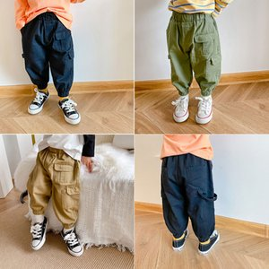 Children's Overalls 2020 Autumn Models for Boys and Girls All-match Casual Trousers Baby Loose Pocket Trousers Trend