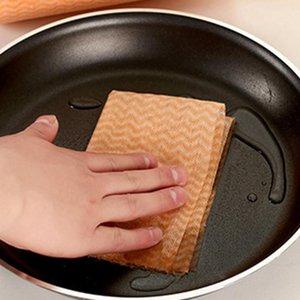 Descartável pano de pano lavável lavável cozinha fiail sem fio sem tecido não fácil to tocar óleo de limpeza de óleo DHB4566