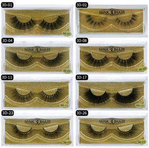3D Mink eyelashes Thick real mink HAIR false eyelashes natural for Beauty Makeup Extension fake Eyelashes false lashes