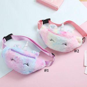 Unicorn Plush Plush талия сумка милый мультфильм дети Фанни пакет девушки ремень сумка мода путешествия телефон сумка сумка для хранения сумки DWC4137
