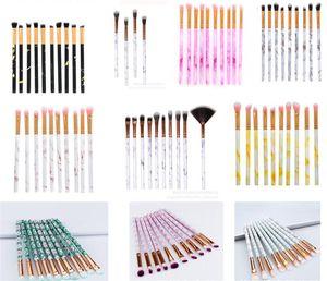 10 PCS Set Maquillage Brosses Tool Set Cosmétique Poudre Shadow Foundation Fondation Blanc En mélange Beauty Maquiagem