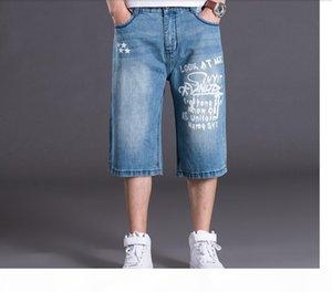 Wholesale-Mens Shorts Plus Size 30-46 100% Cotton Baggy Jeans Shorts Men Leisure Denim Shorts For Big And Tall Men Jogger