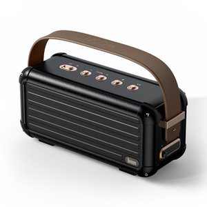 40W Superior Baixo Portátil Sem Fio Bluetooth Speaker Design Retro 6 Drivers para 25h Playtime Decoração de Casa Inteligente