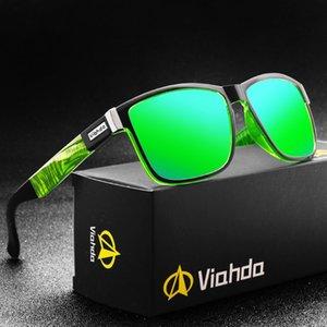 Viahda Pollarized Square Sunglasses Esportes óculos