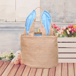 Easter gift multifunctional tote package cute bunny ears egg bag basket easter bunny bag high quality printed canvas tote bag free shipping